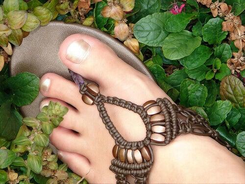Fot i sandal