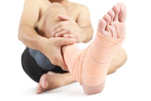 Skadade fötter