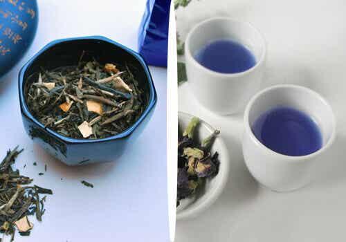 Blått te för en naturlig viktminskning