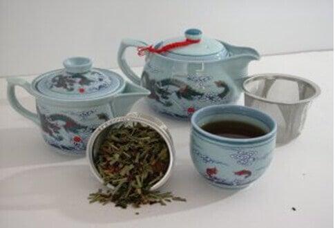 Blått te