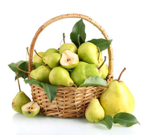 Korg med päron