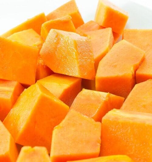 Papaya i tärningar