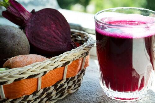 Rödbetor och juice