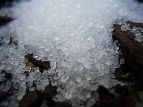 Bitar av socker