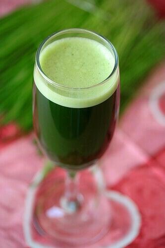 Gör en dryck med gröna bladgrönsaker