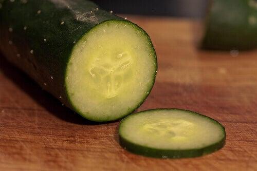 en skivad gurka