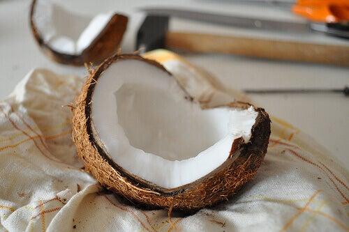 Halv kokosnöt