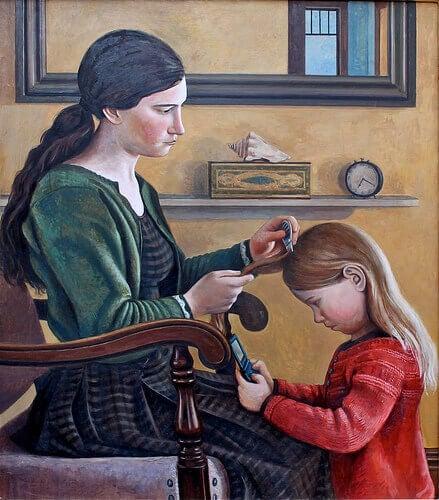 Målning av lössletande moder