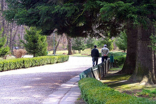 Promenerande personer