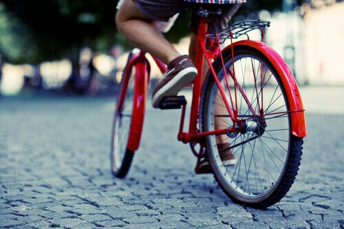 Övningar för åderbråck - cykling
