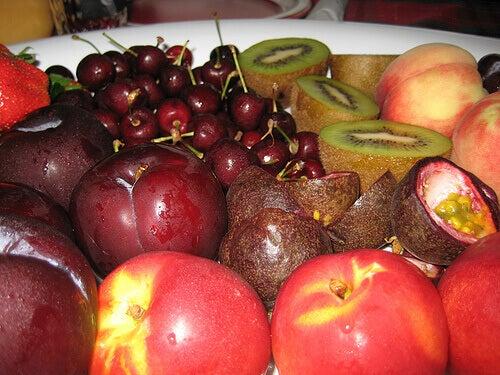 Uppdukad frukt