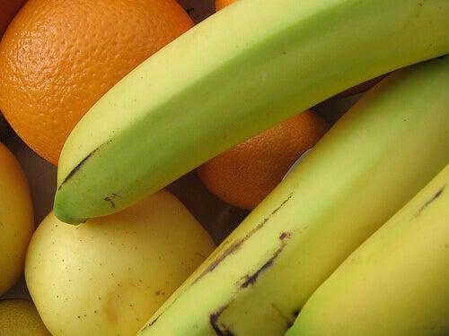 Banan och apelsin