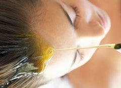 Olja kapillär hårväxt