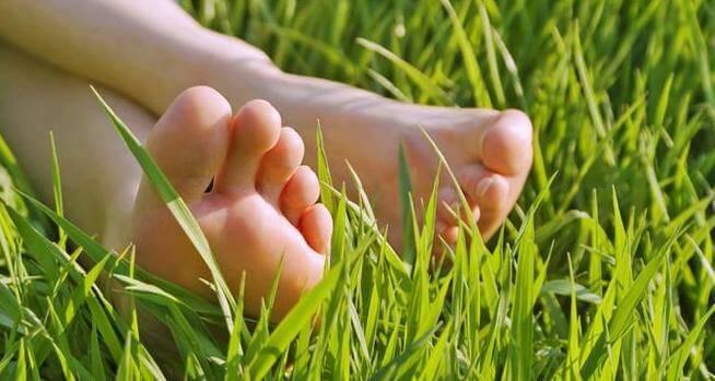 Fötter i gräset