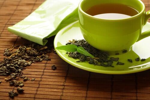Drick en kopp te på morgonen