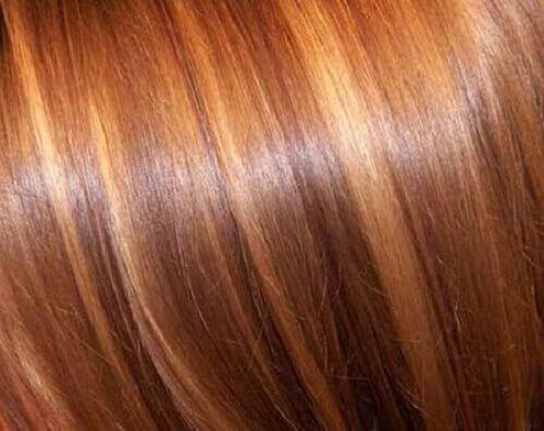 Tonat hår