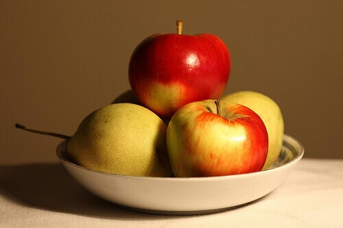 Äpplen är bra mat