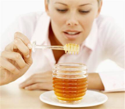 honung för exfoliering
