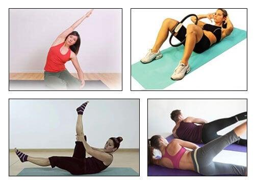Pilatesövningar för att minska midja och höft