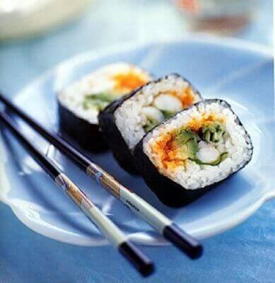 sushi är en stor del av Japans matkultur