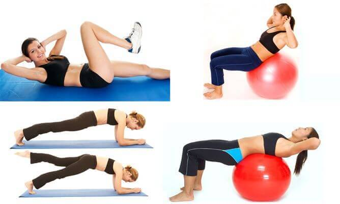 träna bort fett från magen