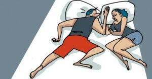 Sover du ihopträngd kan det tyda på dålig självkänsla