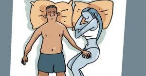 Att sova med benen sammanflätade visar engagemang