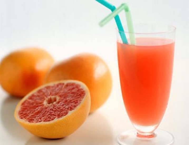Grapefrukt och juice
