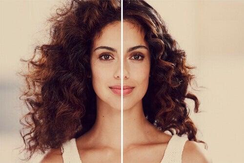 Vackert hår utan friss