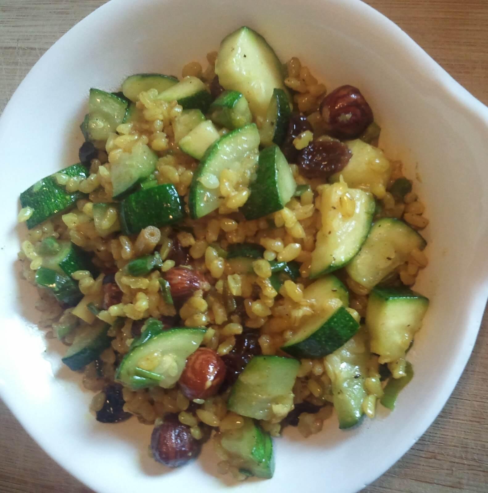 Ris med zucchini