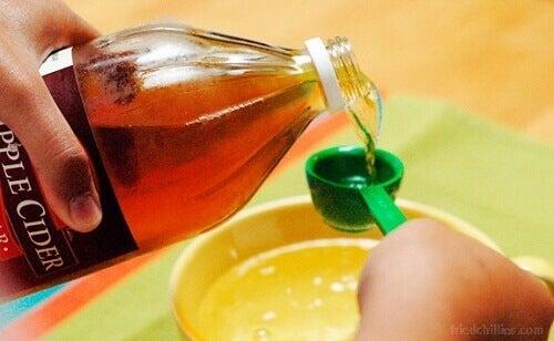 Äppelcidervinäger kan reglera pH-värdet