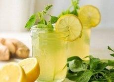ingefära, citron, mynta