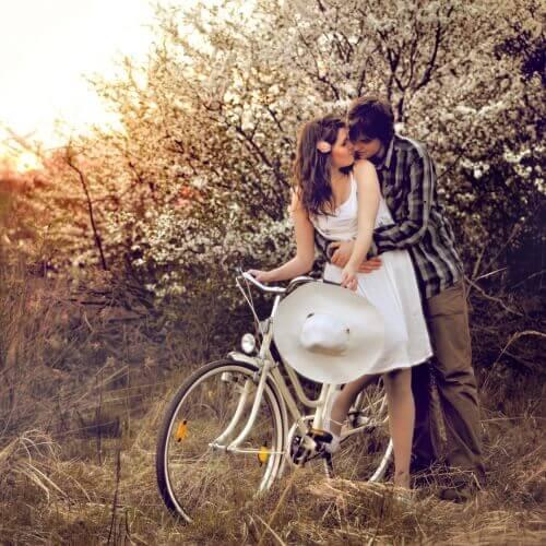 Personer på cykel