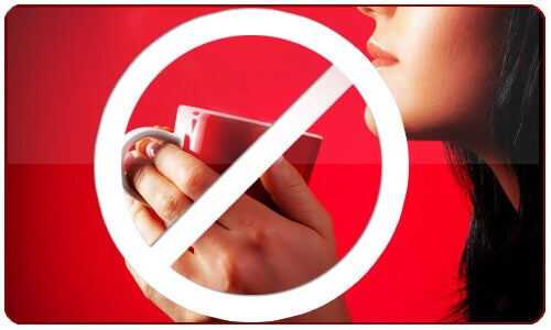 konsumera inte för mycket koffein