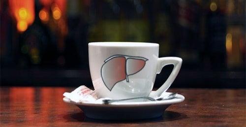 Kaffekopp med lever