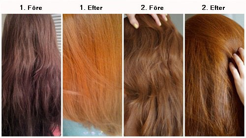 naturligt blekt hår