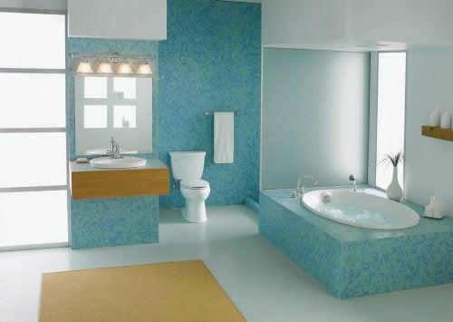 Ett rent badrum