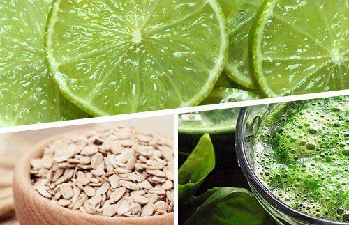 Tappa vikt med citron, havre och spirulina