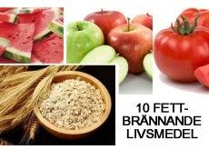 10 fettbrännande livsmedel
