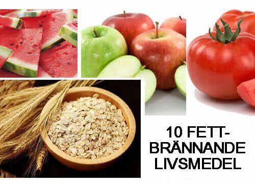10 fettbrännande helt naturliga livsmedel