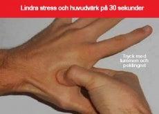 Akupressur mot huvudvärk och stress