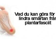 Lindra smärtan från plantarfasciit