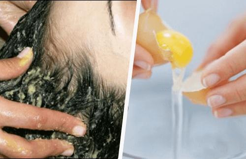 Äggula i hår