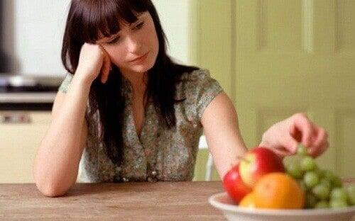 Kvinna med aptitbrist