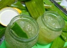 hemmagjord aloe vera gel