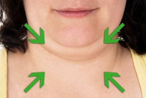 minska dubbelhakan och tona halsen