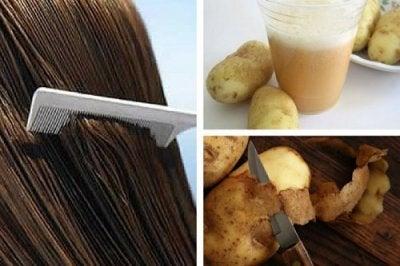 Att stärka håret med potatisskal: en enkel lösning