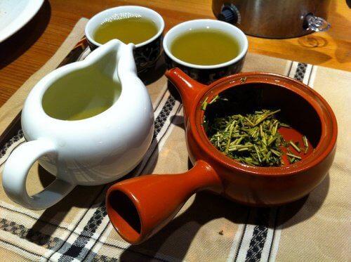 Grönt te innehåller antioxidanter