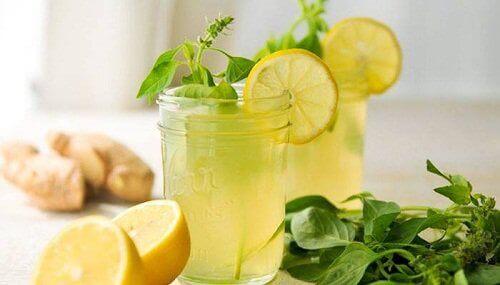 Infusion med ingefära, citron och mynta