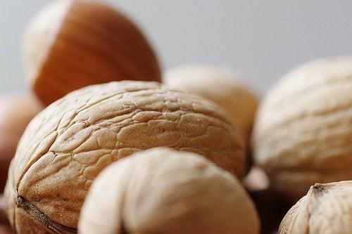 Nötter innehåller protein
